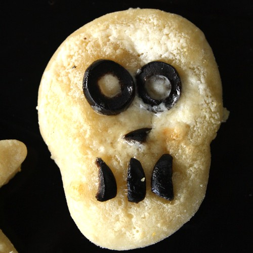 Halloween Ghost & Skull Pizzas