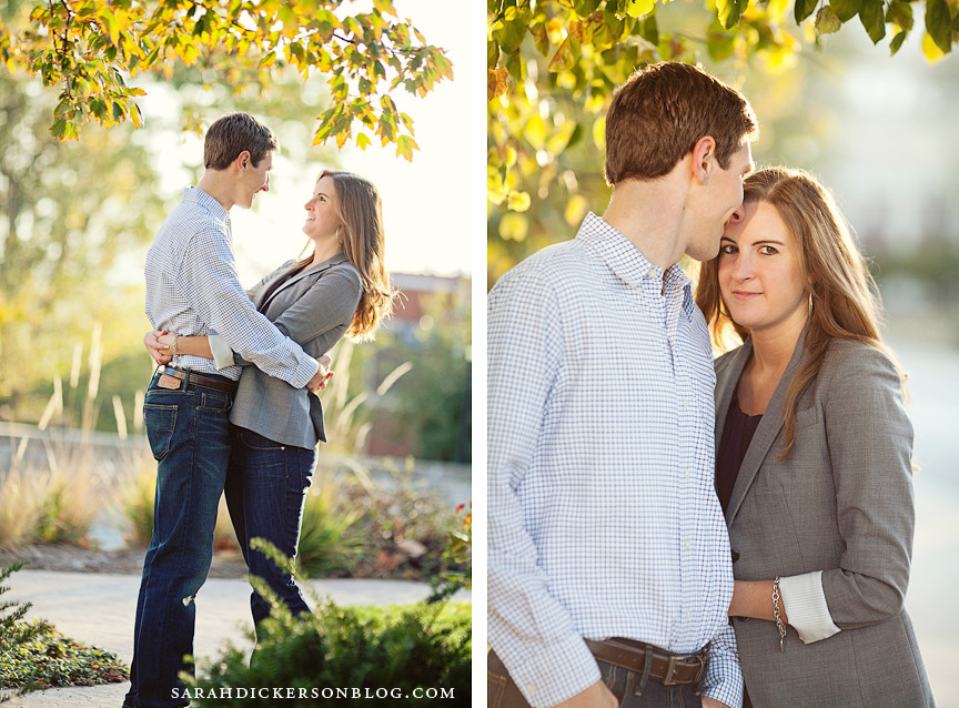 University of Kansas Lawrence engagement photographs