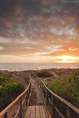 Kodachrome 64 (Corsaro078) Tags: sunset sky seascape beach landscape tramonto cielo spiaggia paesaggio kodachrome64 passerella d90