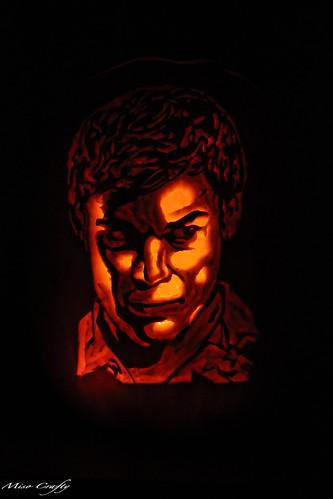 Halloween 2011 - Dexter Pumpkin 2