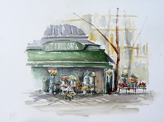 Lyon: quai du rhone (ced69) Tags: lyon aquarelle du quai rhone