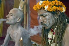 Let's get stone. (PawelBienkowski) Tags: india hinduism sadhu kumbhmela sadhus sannyasin chilum ascetics nagababa