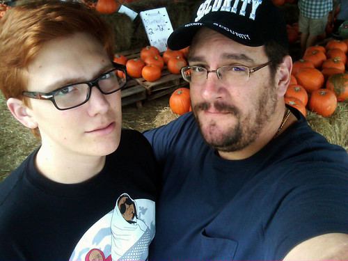 Brian and Jeff at the pumpkin patch