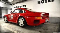 Future History. (DENNISVDMEIJS Photography) Tags: autumn red classic photoshop germany photography nikon garage automotive turbo porsche d