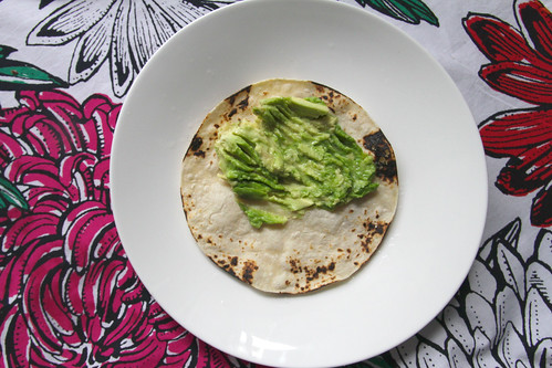 avocado & charred tortilla