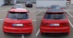 Audi A1 - Restyle meets Red Piranha 03 (H2O74) Tags: auto red black rot cars sports car rouge rojo automobile 14 s ps voiture h2o coche modified a1 autos tiefer audi tuning comparison rood rosso 車 coupe coches coupé piranha rotor 122 185 tronic sportlich automobil sline pkw oberallgäu レッド 2011 misano kfz kempten vergleich gegenüberstellung restyle kraftfahrzeug tfsi 8x redpiranha stronic misanored roterpiranha misanorot rotorfelgen スポーティです スポーツ車 チューニング כוונון
