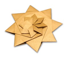 Star - Evan Zodl (EZ Origami) Tags: evan floral gold star origami foil tissue nicolas terry ez simple intermediate zodl 8pointed