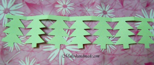 paper garland tutorial: paper christmas tree