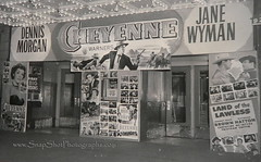 1947 Cheyenne with Dennis Morgan & Jane Wyman Movie Theater Lobby (SnapShotPhotographs.com) Tags: sheets cheyenne movieposters 1947 lobbycards dennismorgan theaterlobby decolighting janewymansnapshotphotographscom