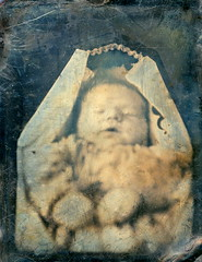 Daguerreotype of Deceased Infant in Coffin, 1/9th-Plate, Circa 1845 (lisby1) Tags: portrait men history loss fashion century vintage children photography death early mourning 19thcentury 1800s victorian jewelry funeral mementomori tintype ambrotype cdv cartedevisite token widow daguerreotype regency edwardian grief geneology geneaology 19th customs earlyphotography grieving nineteenthcentury cabinetcard vinatge widowsweeds hairwork funeralcustoms socialcustoms funeralcustomers