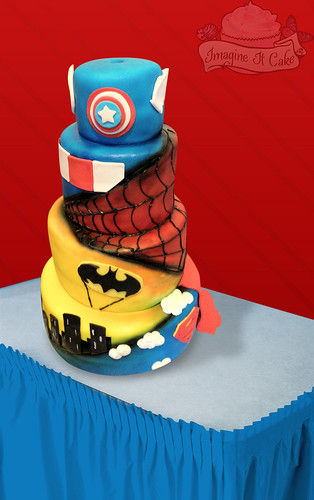 Criss Cross Super Hero Cake