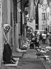 in the neighbourhood of tarlaba // istanbul (pamela ross) Tags: old lady pen turkey olympus istanbul neighbourhood ep1 tarlabasi tarlaba