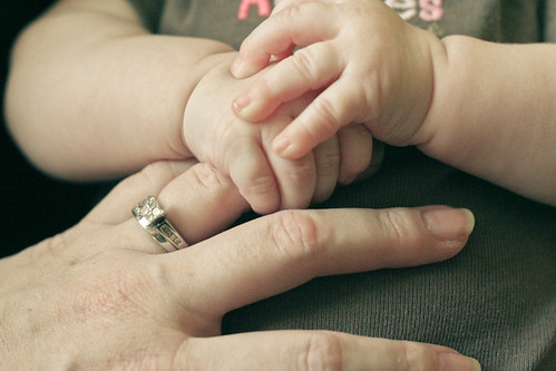 baby hands (and a mama hand).