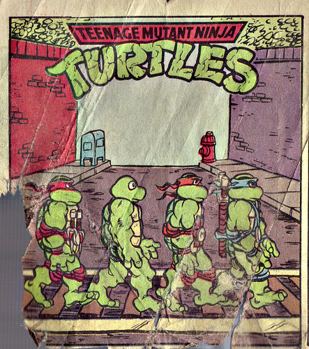 Teenage Mutant Ninja Turtles { newspaper strip } TURTLE X-ing   ..art by Lawson - isolated :: xxxx1991