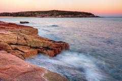 Acadia National Park (Greg from Maine) Tags: ocean sunset seascape landscape coast nationalpark waves barharbormaine acadia barharbor mountdesertisland mdi sandbeach acadianationalpark