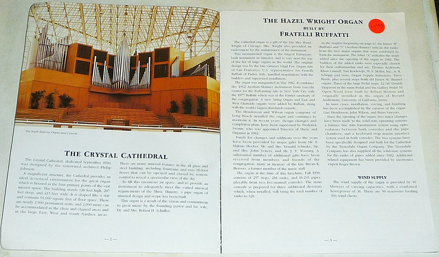 CRYSTAL CATHEDRAL Organs And Carillon Guide (2)