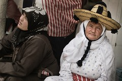 At the market in Rif Mountains, Morocco (Tom Szustek) Tags: people hat photography women photographie market traditional hijab morocco maroc souk rif