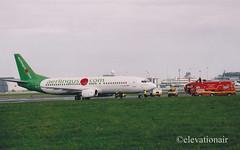 EI-BXD Boeing 737-448 Aer Lingus (elevationair ✈) Tags: firetruck boeing aer emergency dub airliners 737 dublinairport lingus fireservice 734 logojet eidw aerlinguscom eibxd