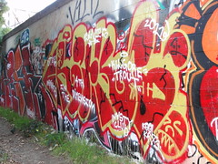 CRUKS (Same $hit Different Day) Tags: graffiti bay east crew nasty cruks