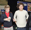 Niall Horan and Harry Styles One Direction attend a signing for their new album 'Up All night' at Tesco Extra Maynooth in Kildare Kildare, Ireland