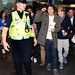 Harry Styles One Direction arrive at Dublin airport ahead of promoting their new album 'Up All Night' at Tesco Extra Maynooth in Kildare Dublin, Ireland