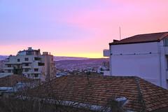 Tbilisi Sunrise (danieljbec) Tags: winter sun yellow sunrise georgia day purple balcony clear tbilisi vake tabidze