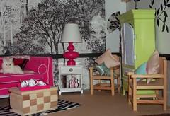 Fun Living Room (KasiesCloset) Tags: barbie mattel diorama dollfurniture 16scale fashiondolldiorama