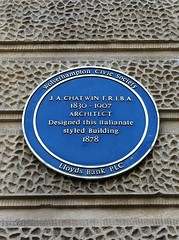 Photo of J. A. Chatwin blue plaque