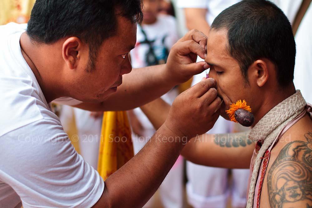 Pierce @ Phuket Vegetarian festival 2011, Thailand