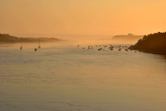 Barcas no Mira (Dani Alvarez Cañellas) Tags: sunset portugal rio river nikon silhouettes alentejo mira oceano atlantico milfontes pordesol d3000 parquenaturaldosudoestealentejanoeacostavicentina