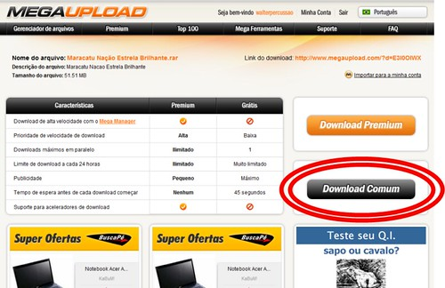click em download comum
