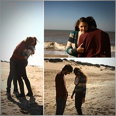 LeoAndJacqui1 (Joel Stankiewicz) Tags: life love beach digital canon eos 350d rebel xt sand couple waves air free