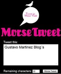 Morse Tweet (inggmartinez) Tags: web20 tweet morse twitter