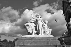 Flight of the Pigeon (Ozman666) Tags: london monument statue delete10 delete9 dark delete5 delete2 pretty delete6 delete7 pigeon flight delete8 delete3 delete delete4 alberthall deletedbydeletemeuncensored