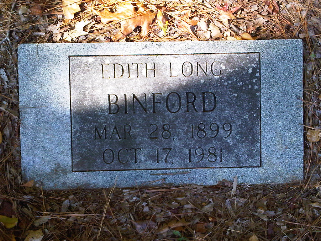 Gumm Cemetery Edith Long Binford