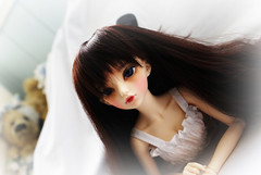 Ignore the Teddy Bear Mafia (Onizel) Tags: bjd fairyland mnf minifee rheia