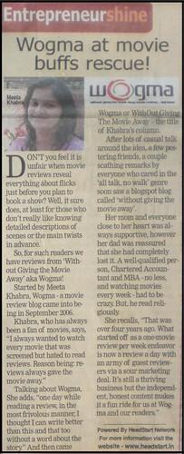 wogma in Free Press Journal