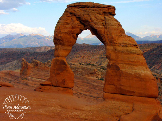 Delicate ARch close to sunset