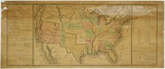 Map of the United States Including Western Ter...
