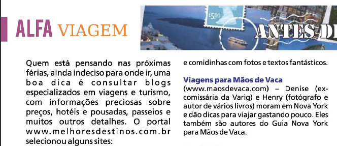 Mãos de Vaca na Mídia - Revista Alfabarra Hoje