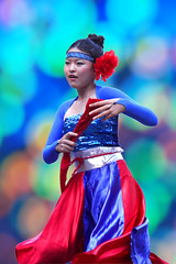 Young dancer (tanakawho) Tags: blue red people flower girl festival fan costume movement expression performance young dancer fabric flowing tanakawho