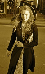 _DSC1086  Pickering War Weekend 2011 (225) (petelovespurple) Tags: girls woman stockings fur army women shoes braces wwii dressup nostalgia 1940s ww2 soldiers reenactment northyorkshire raf vintagecars furs nylons pickering seams seamedstockings landgirls wartimeweekend pickeringwartimeweekend 1416october2011railwayinwartimeweekendnymrwartime1940vintageclothingwartimeweekendnikond90peteepeteellisonuniformshatscapshatcapberetheadscarfveilbowlermilitaryoldvintagereenactorsmotorcyclesjeeps