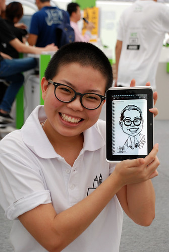 digital caricature live sketching on HTC Flyer for HTC Weekend - Day 2 - 12