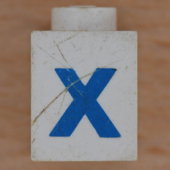 Lego Letter X (Leo Reynolds) Tags: canon eos iso100 ebay x letter xxx 60mm f80 oneletter letterset 02sec 40d hpexif grouponeletter xsquarex xleol30x xxx2011xxx