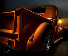 Days end (Neil Banich Photography) Tags: original orange cars car automobile artistic details rear pickup heavymetal chrome custom hotrods ratrod autoart artcool carscool neilbanichphotograhy