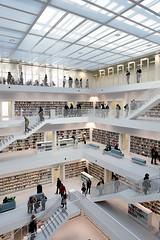 Vor der Erffnung der Stadtbibliothek am 23. Oktober 2011 (Landeshauptstadt Stuttgart) Tags: stuttgart library bibliothek stadtbibliothek
