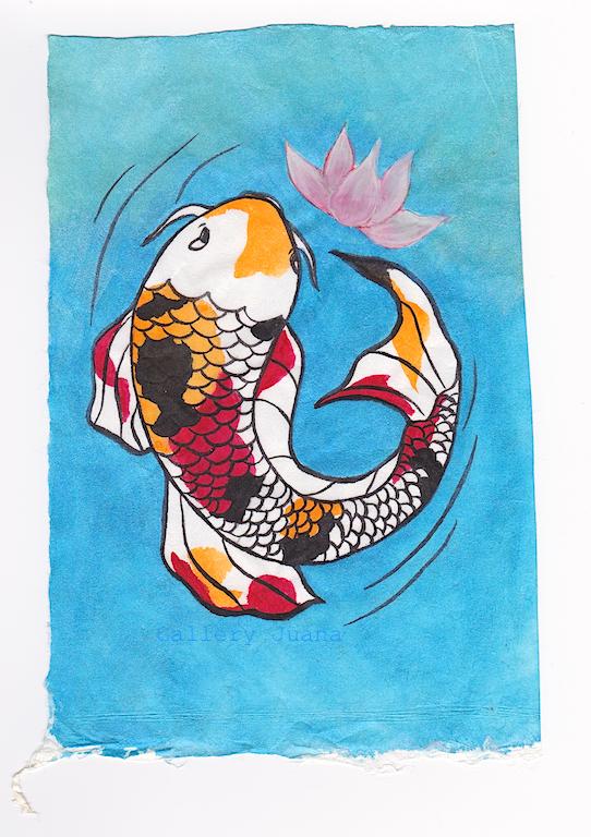 carp and lotus