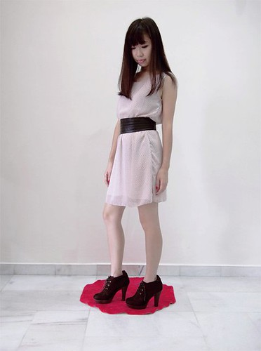 30_Misty Rose Speckled Sleeveless Dress