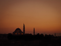 the sun goes down, wherever we are // istanbul (pamela ross) Tags: sunset red sun pen turkey view olympus istanbul mosque ep1 shilouette istanbullovers