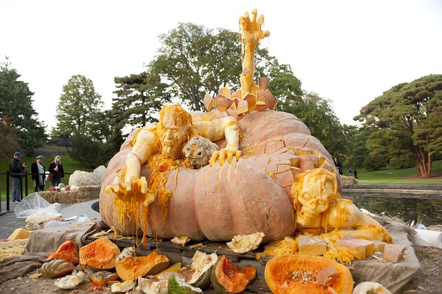 Ray Villafane's pumpkin sculpture